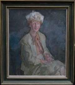 Lady Priscilla Burton - British art 20thC Impressionist portrait oil painting