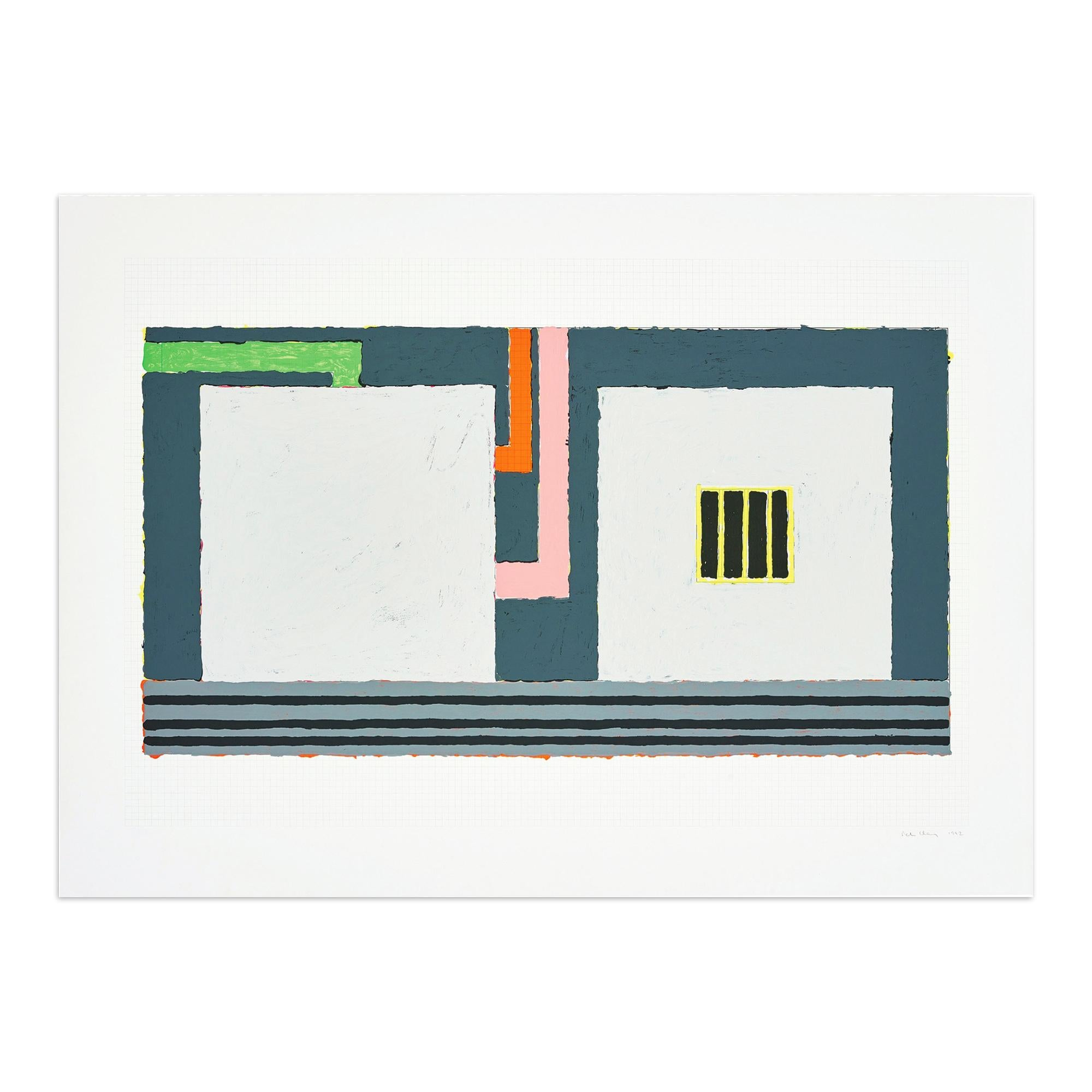 Elsewhere, Silkscreen in Colors, Abstract Art, Minimalism, Hard-Edge Art