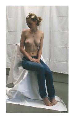 "Peter Handel - ""Karina On Stool"" - giclée print - nude - signed"