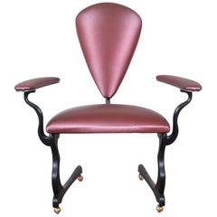"Peter Handler Custom Handmade ""Pteranodon"" Postmodern Desk Chair, 2008"