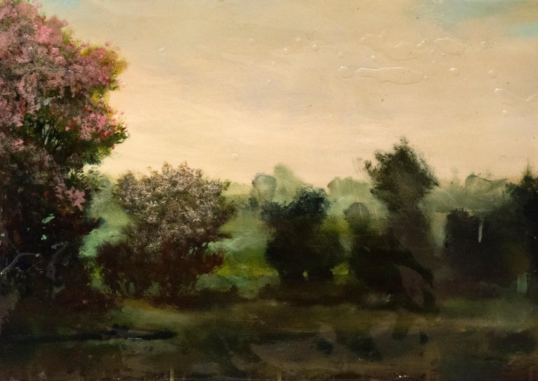 Azalea - Contemporary Painting by Peter Hoffer