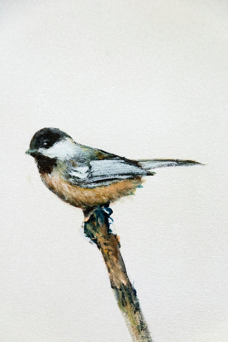Chickadee I - Painting by Peter Hoffer