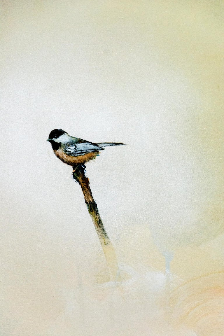 Chickadee I - Contemporary Painting by Peter Hoffer