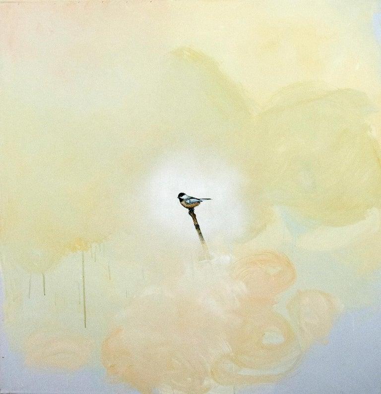 Peter Hoffer Still-Life Painting - Chickadee I