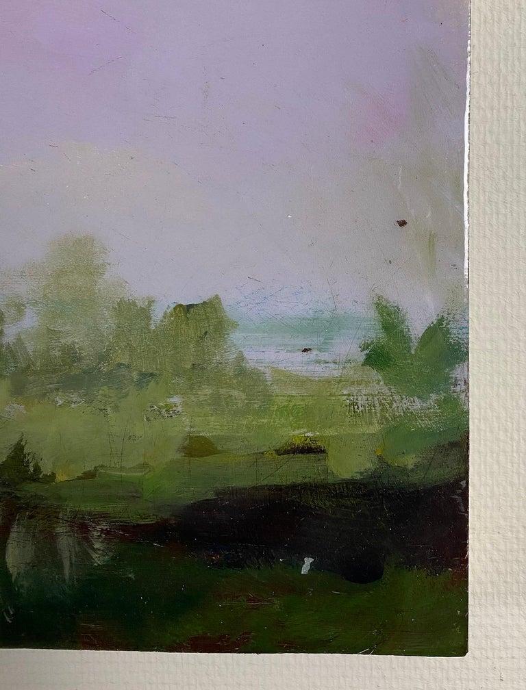 Dante - Brown Landscape Painting by Peter Hoffer
