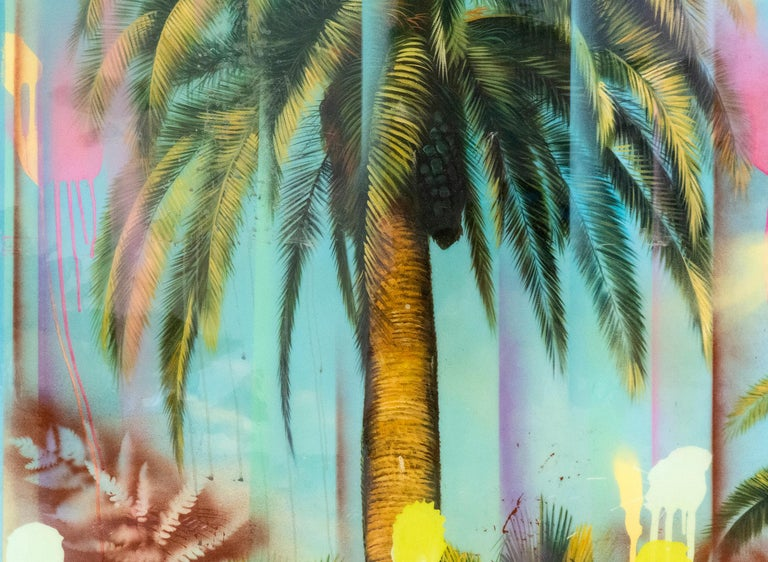 Loretto  - tropical night memory - Contemporary Painting by Peter Hoffer