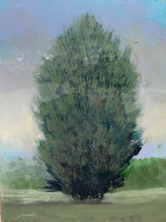 ''Silhouette 2'' Contemporary Canadian Landscape Painting of a Tree