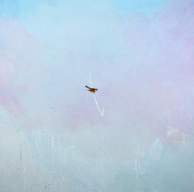 Sparrow - Painting by Peter Hoffer