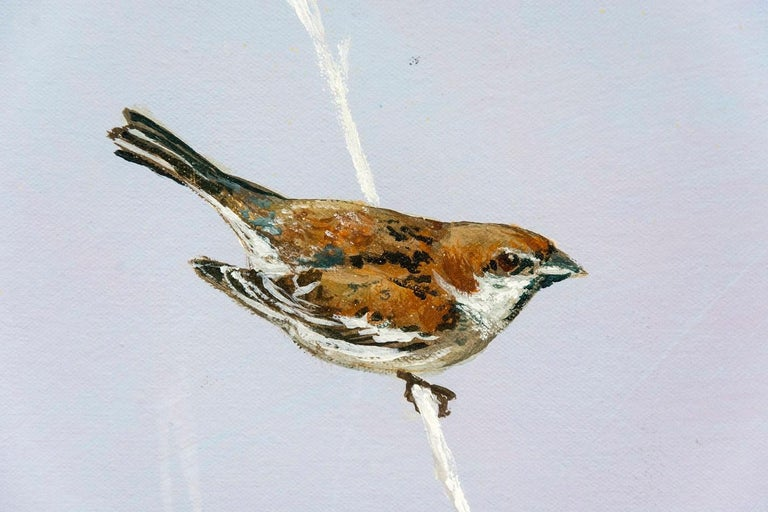 Sparrow - Contemporary Painting by Peter Hoffer