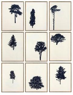Der Wald  8/12 - portfolio of 9 woodblock prints