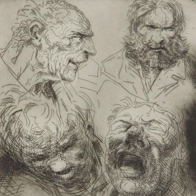 British Peter Howson Underground Series All Saints Print, 1998 For Sale