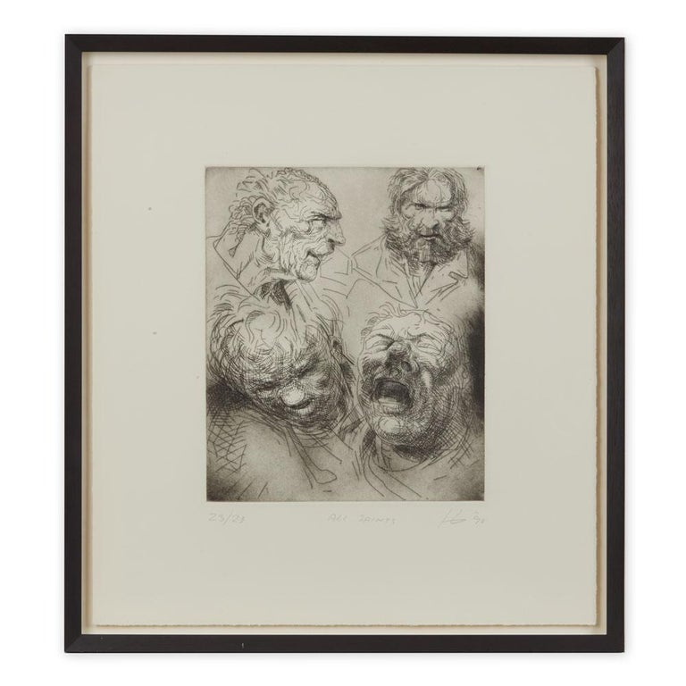 Peter Howson Underground Series All Saints Print, 1998 For Sale
