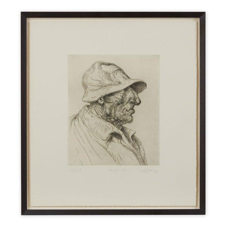 Peter Howson Underground Series Framed Baker St Print, 1998 For Sale