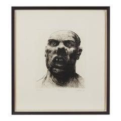 Peter Howson Underground Series Framed Barking Print, 1998