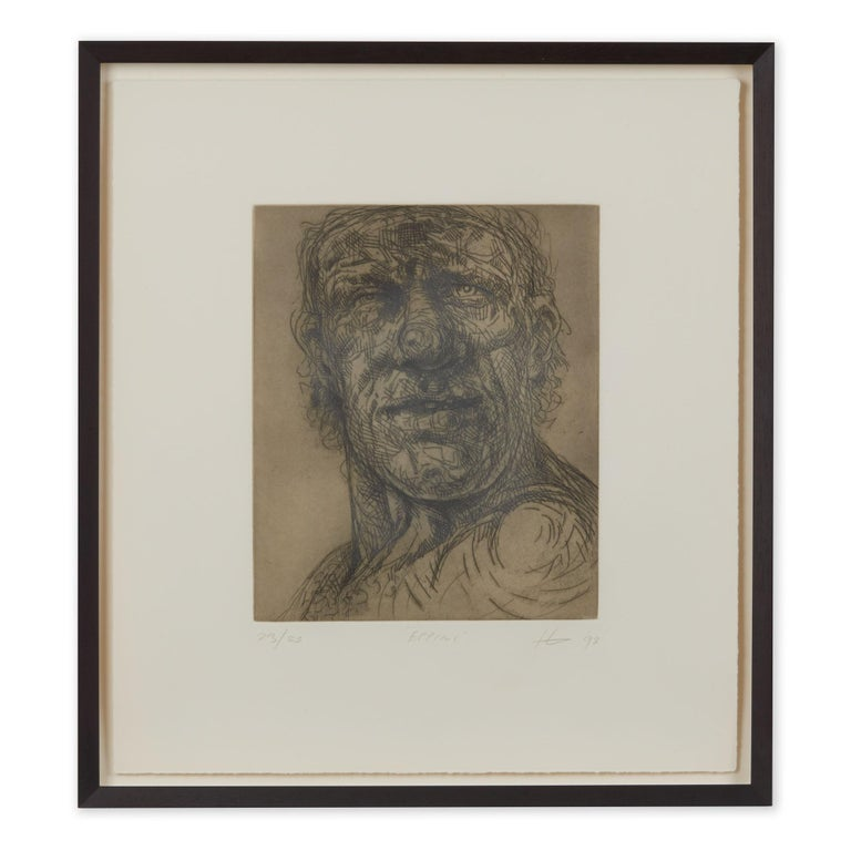 Peter Howson Underground Series Framed Epping Print, 1998 For Sale