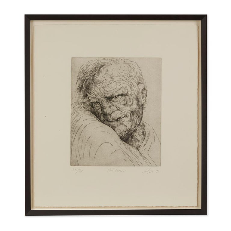 Peter Howson Underground Series Framed Holborn Print, 1998 For Sale