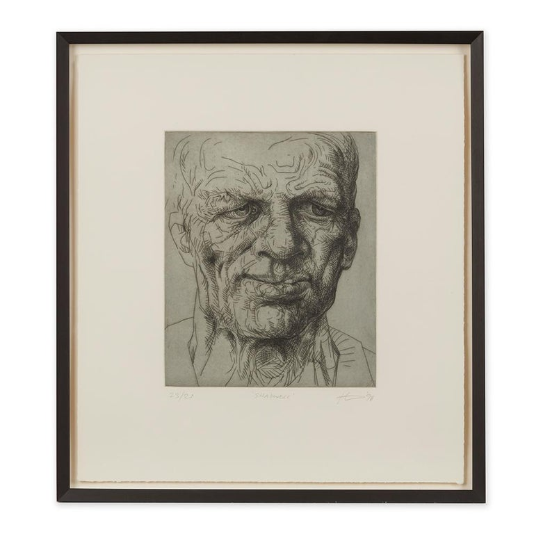 Peter Howson Underground Series Framed Shadwell Print, 1998 For Sale