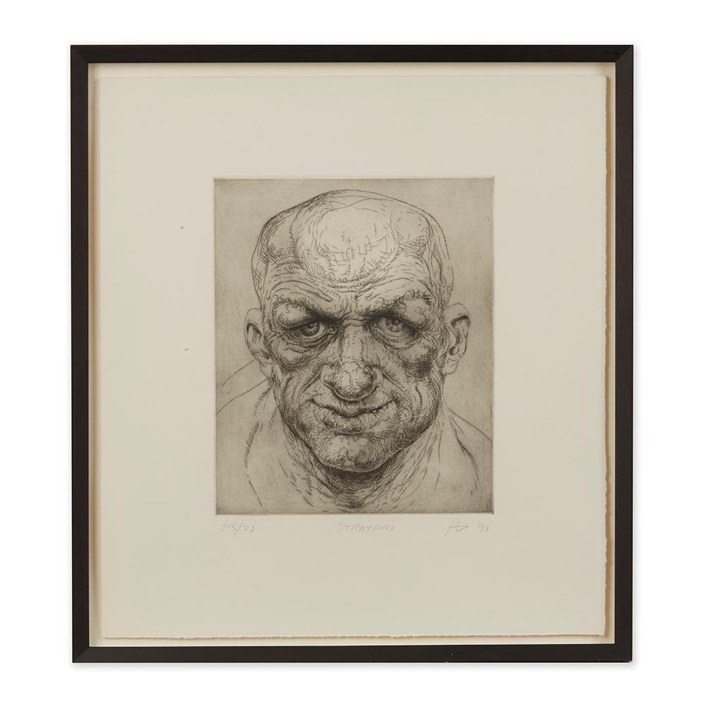 Peter Howson Underground Series Framed Stratford Print, 1998