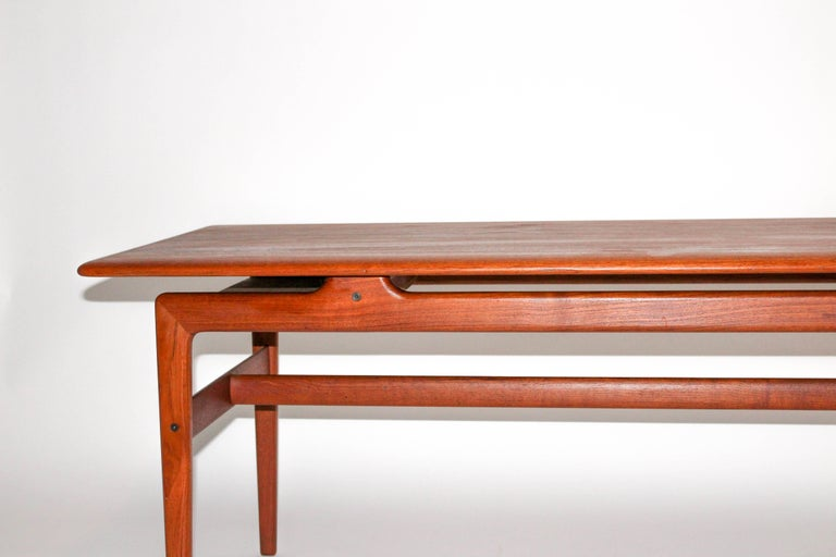 Peter Hvidt & Orla Mølgaard Nielsen Solid Teak Coffee Table For Sale 4