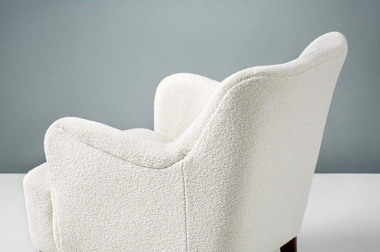 Mid-20th Century Peter Hvidt 1940s Pair of Boucle Armchair for Fritz Hansen For Sale