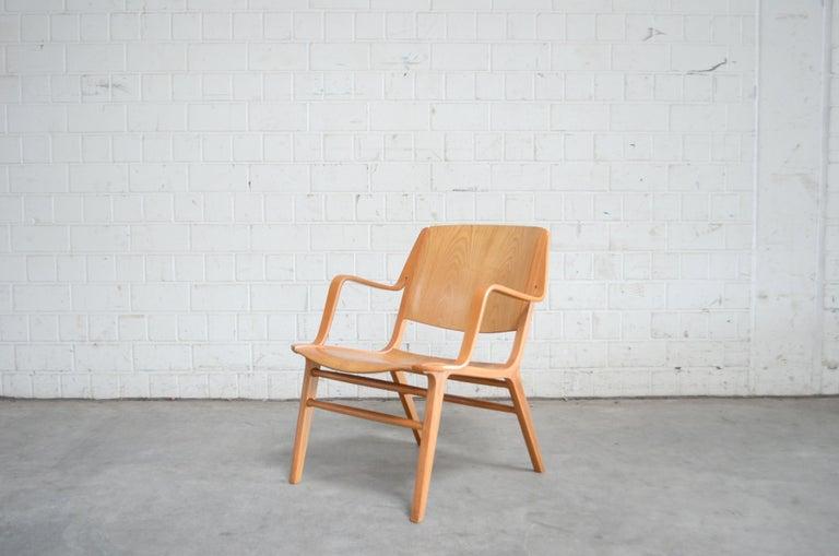 Scandinavian Modern Peter Hvidt and Orla Mølgaard-Nielsen Ax Lounge Chair for Fritz Hansen For Sale