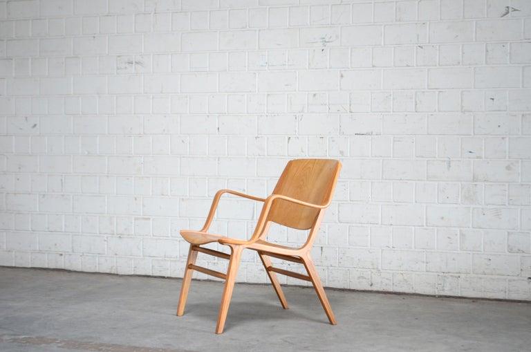 Danish Peter Hvidt and Orla Mølgaard-Nielsen Ax Lounge Chair for Fritz Hansen For Sale