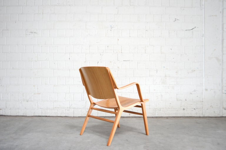 20th Century Peter Hvidt and Orla Mølgaard-Nielsen Ax Lounge Chair for Fritz Hansen For Sale