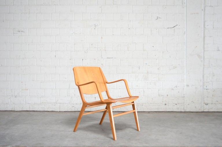 Beech Peter Hvidt and Orla Mølgaard-Nielsen Ax Lounge Chair for Fritz Hansen For Sale