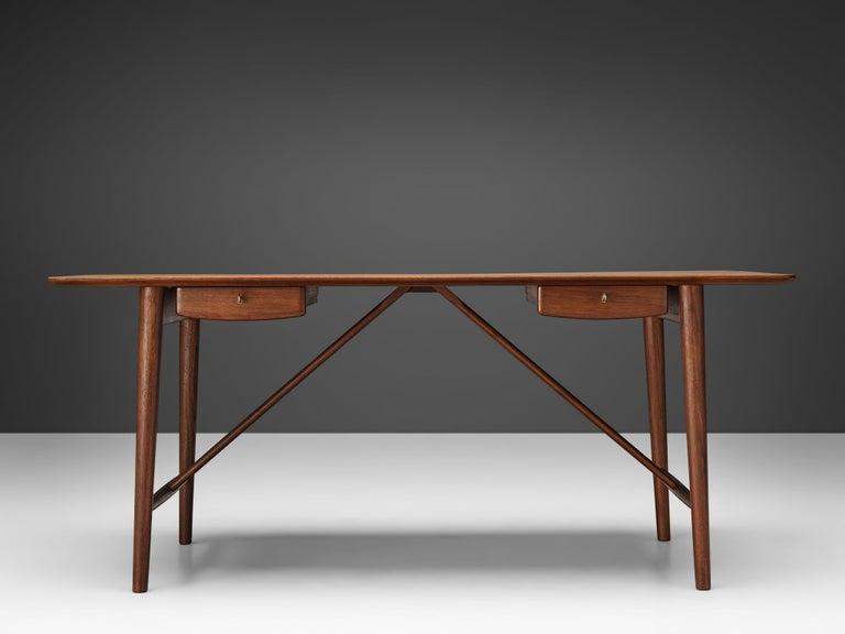Scandinavian Modern Peter Hvidt and Orla Mølgaard Nielsen Desk in Teak For Sale