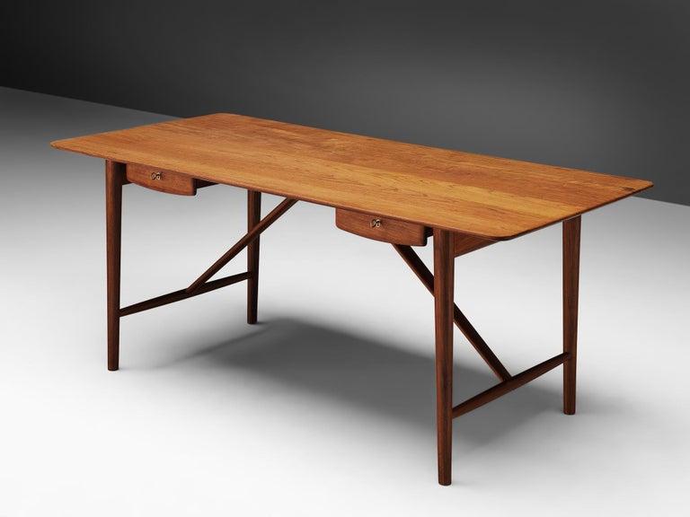 Danish Peter Hvidt and Orla Mølgaard Nielsen Desk in Teak For Sale