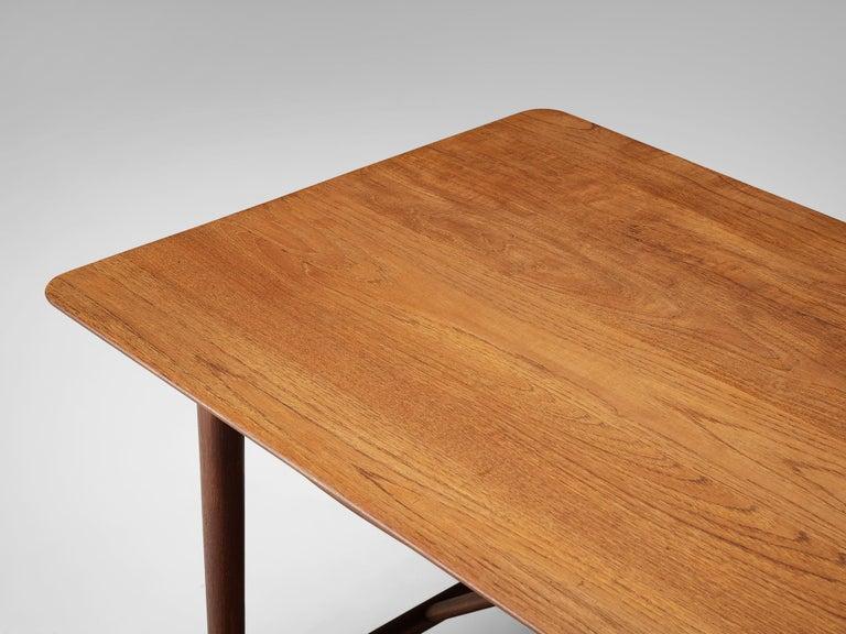 20th Century Peter Hvidt and Orla Mølgaard Nielsen Desk in Teak For Sale