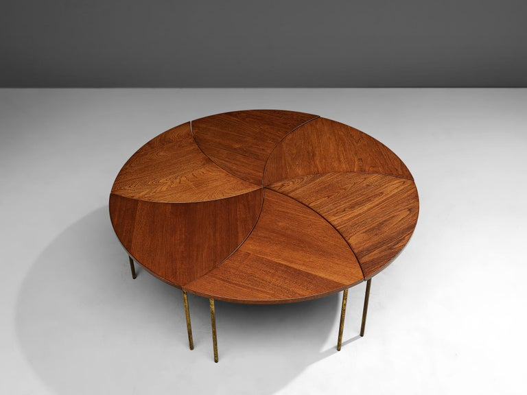 Mid-Century Modern Peter Hvidt and Orla Mølgaard Nielsen Six-Piece Coffee Table For Sale