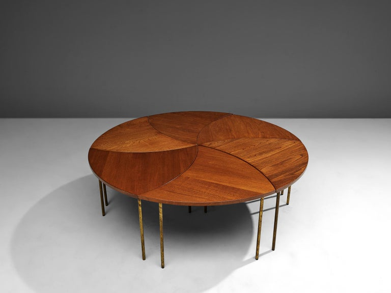 Danish Peter Hvidt and Orla Mølgaard Nielsen Six-Piece Coffee Table For Sale