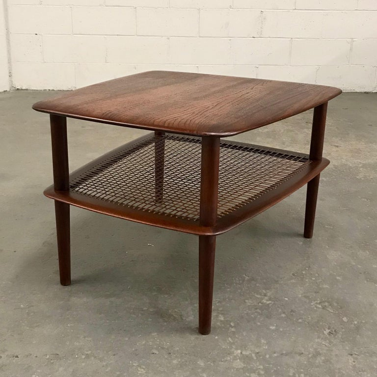 20th Century Peter Hvidt and Orla Molgaard Nielsen Tiered Teak Side Table For Sale