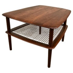 Peter Hvidt and Orla Molgaard Nielsen Tiered Teak Side Table