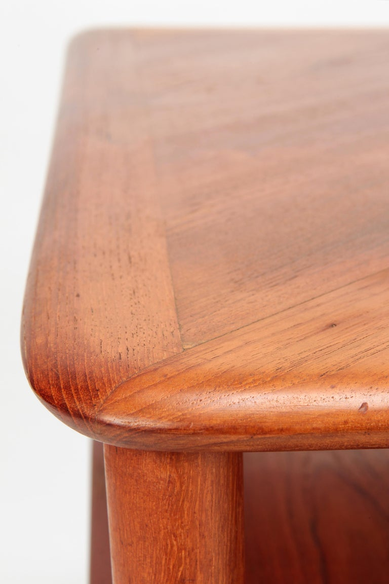 Peter Hvidt Minerva Corner Table France and Son Teak, 1960s For Sale 4