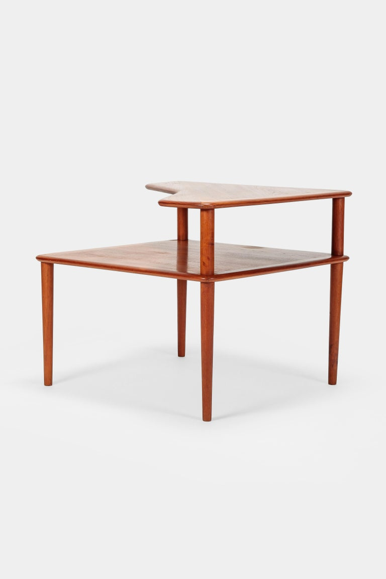 Danish Peter Hvidt Minerva Corner Table France and Son Teak, 1960s For Sale