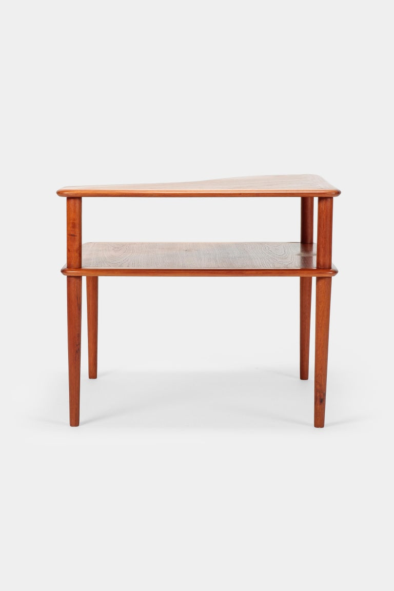 Peter Hvidt Minerva Corner Table France and Son Teak, 1960s In Good Condition For Sale In Basel, CH