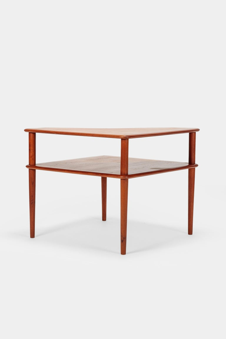 Mid-20th Century Peter Hvidt Minerva Corner Table France and Son Teak, 1960s For Sale