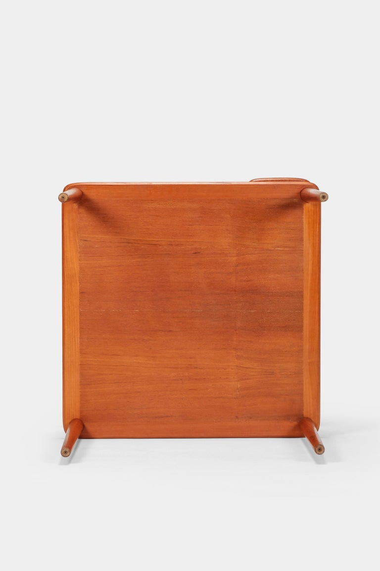 Peter Hvidt Minerva Corner Table France and Son Teak, 1960s For Sale 3