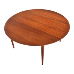 Peter Hvidt Model 515 Round Teak Coffee Table