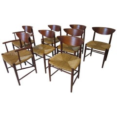 Peter Hvidt Nelsen Danish Teak Dining Chairs for Soborg Mobler