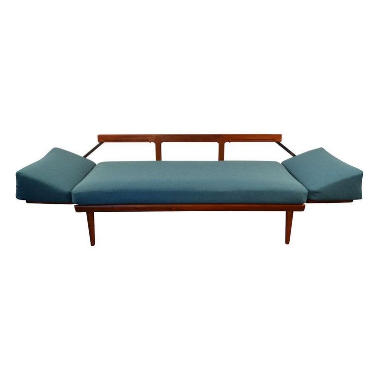 Fabric Peter Hvidt & Orla Mølgaard-Nielsen #451 Teak Sofa For Sale