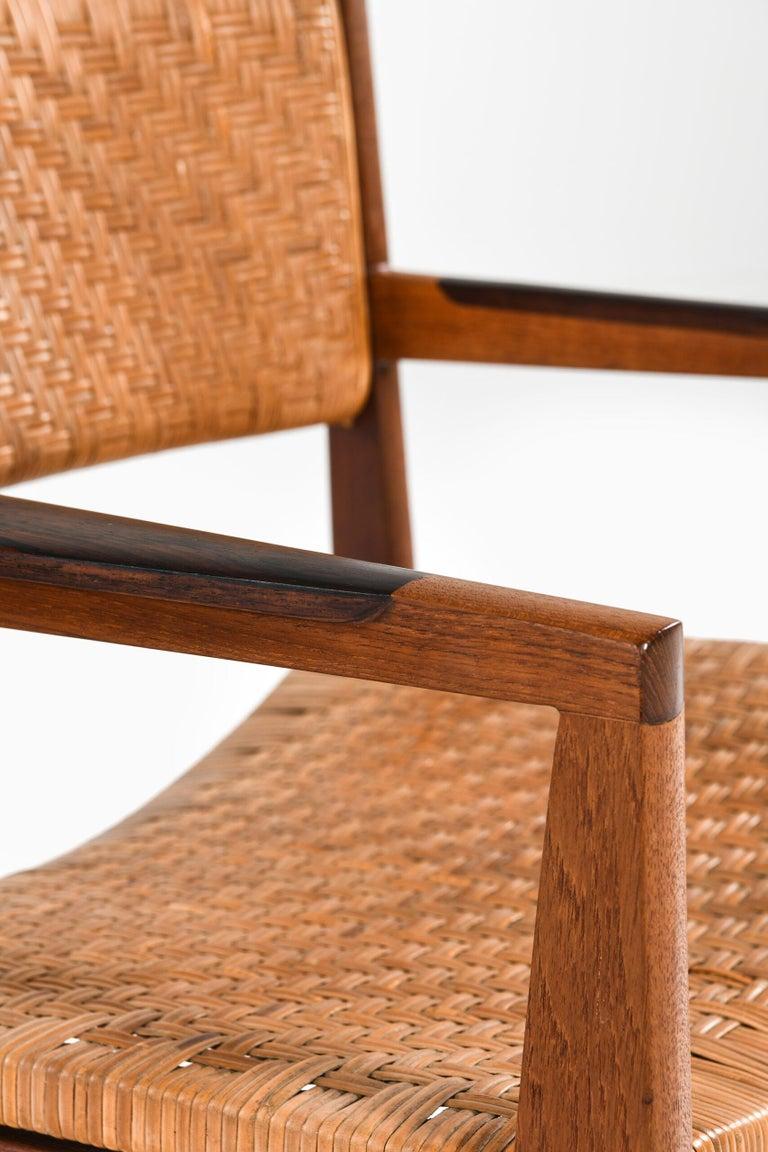 Peter Hvidt & Orla Mølgaard-Nielsen Armchairs Model 350 by Søborg Møbler For Sale 1