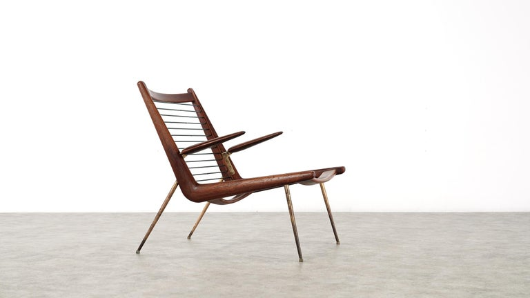 Peter Hvidt & Orla Mølgaard Nielsen Boomerang Lounge Chair, France & Daverkosen For Sale 4