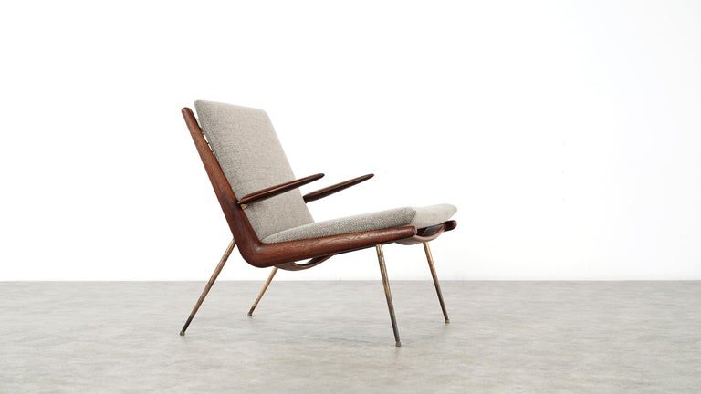 Peter Hvidt & Orla Mølgaard Nielsen Boomerang Lounge Chair, France & Daverkosen For Sale 5