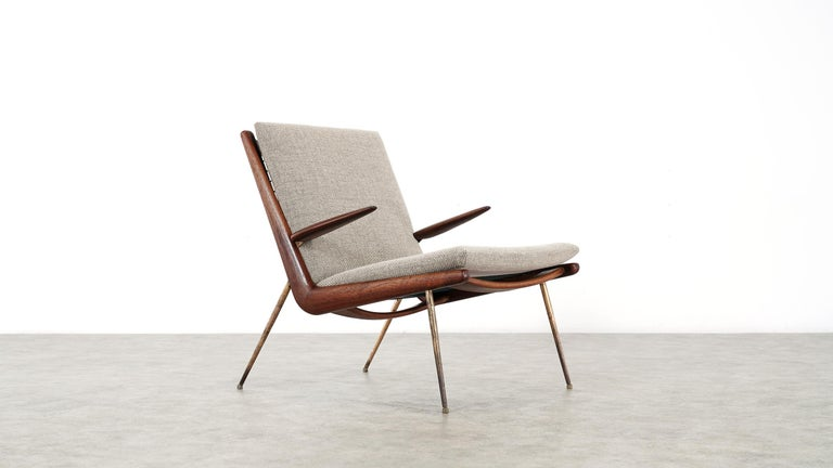 Peter Hvidt & Orla Mølgaard Nielsen Boomerang Lounge Chair, France & Daverkosen For Sale 6
