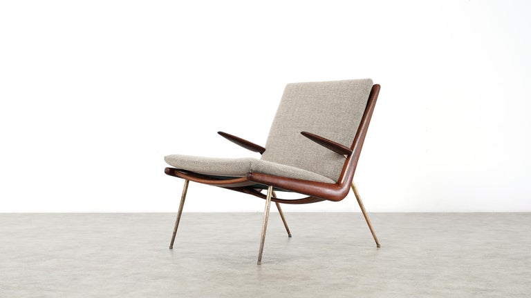 Peter Hvidt & Orla Mølgaard Nielsen Boomerang Lounge Chair, France & Daverkosen For Sale 7
