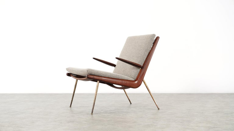 Peter Hvidt & Orla Mølgaard Nielsen Boomerang Lounge Chair, France & Daverkosen For Sale 8