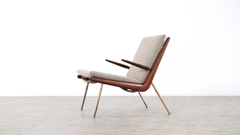 Peter Hvidt & Orla Mølgaard Nielsen Boomerang Lounge Chair, France & Daverkosen For Sale 9